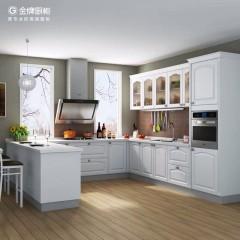 金牌厨柜整体厨房西雅图2石英石台面装修厨房橱柜门定做