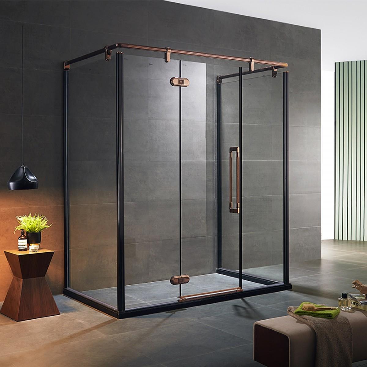 朗斯 博恩系列  淋浴房定制 钢化玻璃 防爆膜 上门 安装