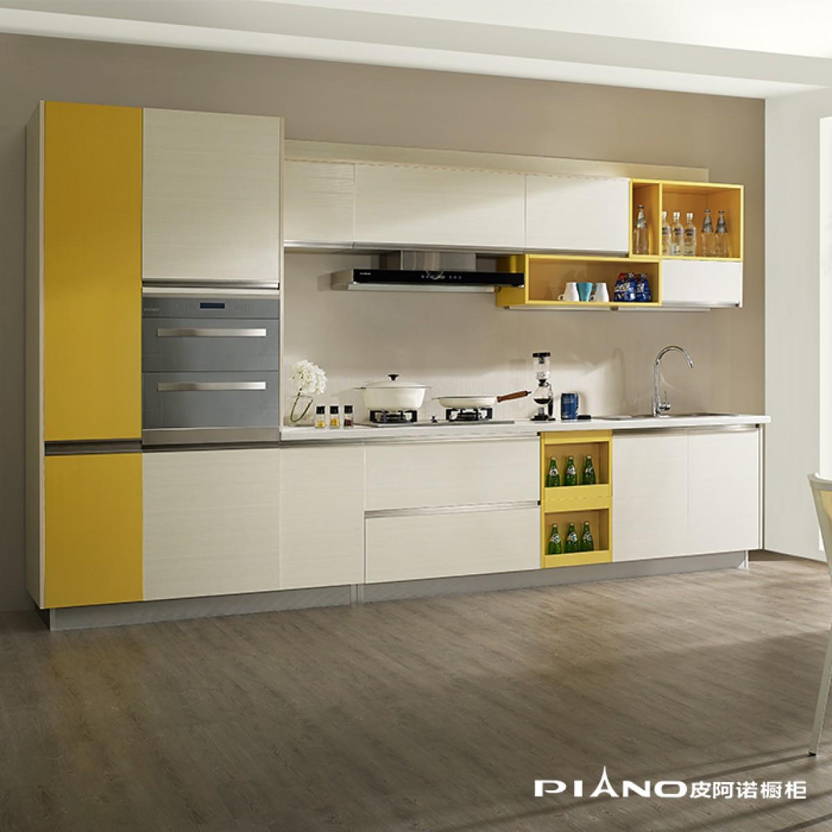 皮阿诺橱柜 一米阳光 简约现代开放式厨房厨柜定制