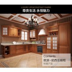 欧派整体橱柜定制厨房装修定做简约石英石台面尼西亚预付金