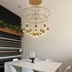 欧思灯饰 呢喃餐厅多头吊灯创意个性单头吧台复古组合灯具北欧简约客厅灯饰