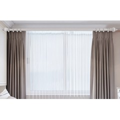 罗马杆电动窗帘