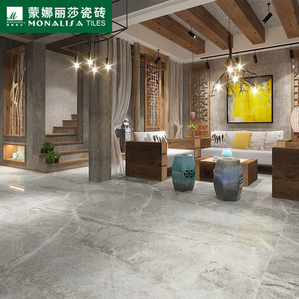 蒙娜丽莎瓷砖旗舰店_蒙娜丽莎瓷砖罗马超石代威尼斯灰陶瓷板仿石纹理抛光面瓷砖