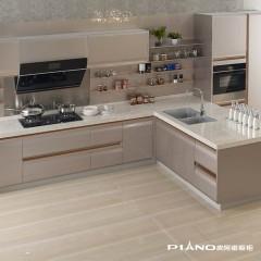 皮阿诺橱柜 天鹅漫舞 简约现代开放式厨房厨柜定制