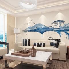 名绣软装 浮世三千玄关 会客厅 背景 展厅 办公室壁画 背景艺术
