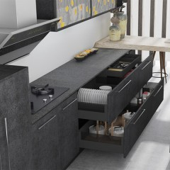 方太柏厨橱柜醉花间新中式整体厨房橱柜