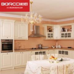 柏厨厨柜整体厨房橱柜定制维多利亚欧式新古典风格吸塑门板石英石