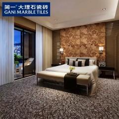 简一大理石瓷砖 夜玫瑰 玄关背景墙瓷砖客厅卧室拼花地板砖