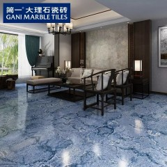 简一大理石瓷砖 景泰蓝 客厅瓷砖拼花地砖卫生间墙砖防滑耐磨