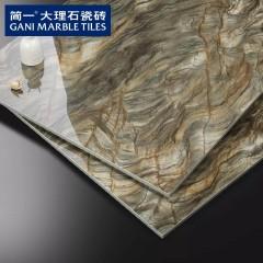 简一大理石瓷砖 水草玛瑙 客厅卧室瓷砖餐厅地板砖背景墙