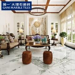 简一大理石瓷砖意大利米灰 客厅地板砖 影视墙造型电视背景墙瓷砖