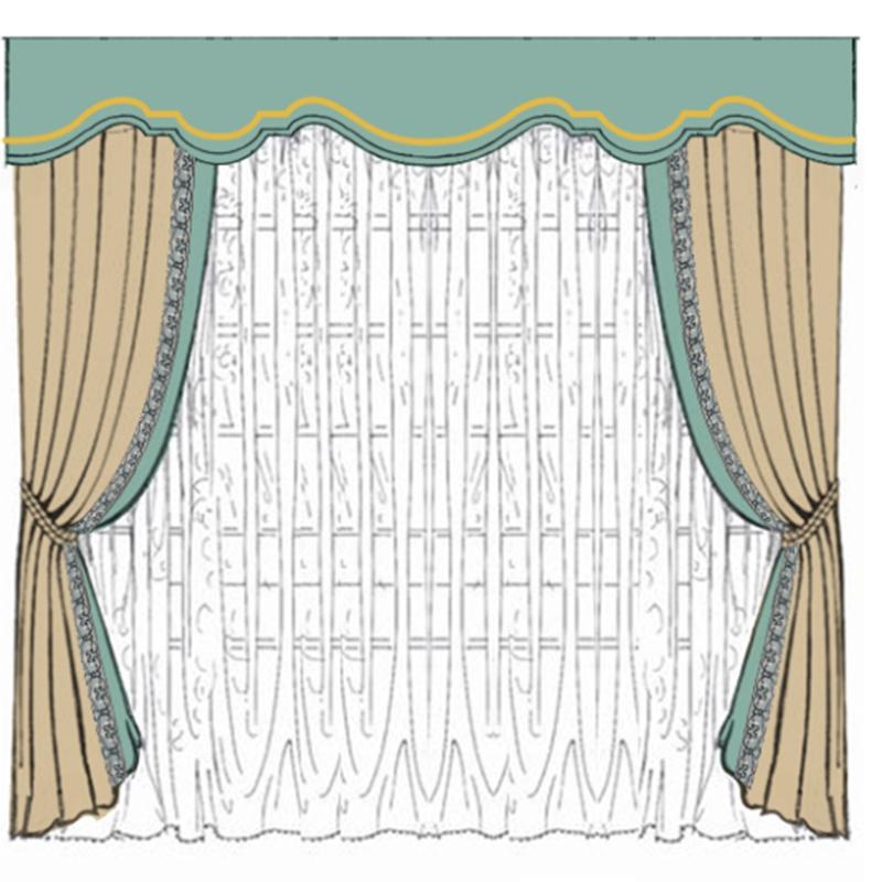 御纺软装大良店 会客厅 展厅 办公室 窗帘设计