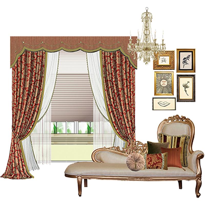 御纺软装 会客厅 展厅 办公室 窗帘设计