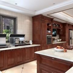 金牌厨柜 西西里 实木