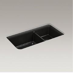 科勒卫浴 Cairn®玄石大小槽台下厨盆