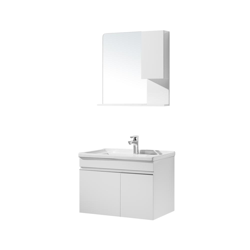 恒洁卫浴 HBM506011N-070生态实木浴室柜